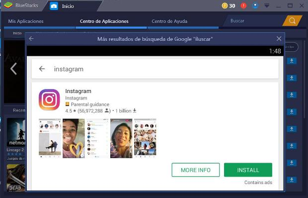 search-instagram-app-for-pc-with-bluestacks