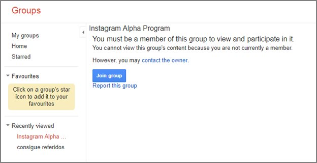 instagram-alpha-program-google