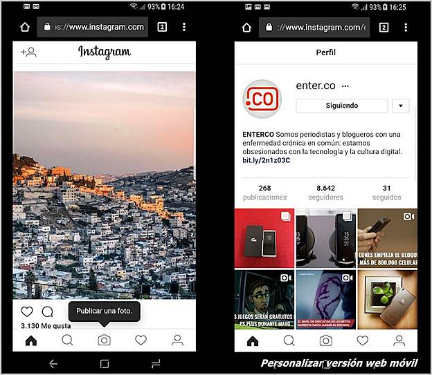 personalizar-instagram-web-movil